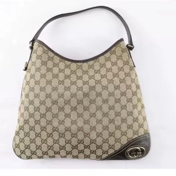 3297689dcd37 Gucci Bags | Auth Gg Signature Britt Hobo Bag | Poshmark